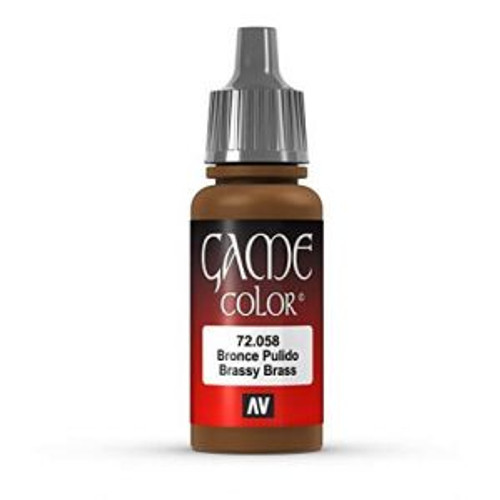 72.058 Vallejo - Game Colour Brassy Brass 17 ml Acrylic Paint