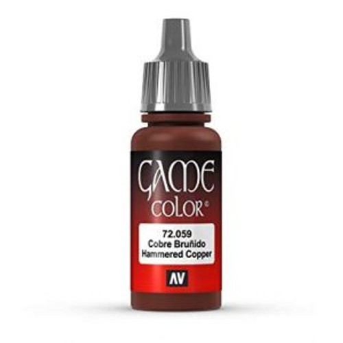 72.059 Vallejo - Game Colour Hammered Copper 17 ml Acrylic Paint