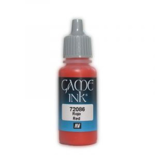 72.086 Vallejo - Game Colour Ink Red 17 ml Acrylic Paint