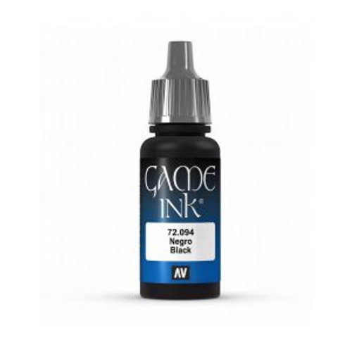 72.094 Vallejo - Game Colour Ink Black 17 ml Acrylic Paint