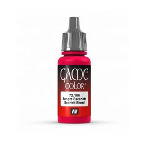 72.106 Vallejo - Game Colour Scarlett Blood 17 ml Acrylic Paint