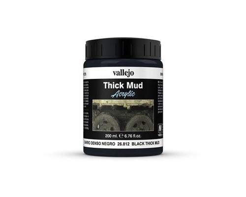 26.812 Vallejo - Vallejo Diorama Effects - Black Thick Mud 200ml
