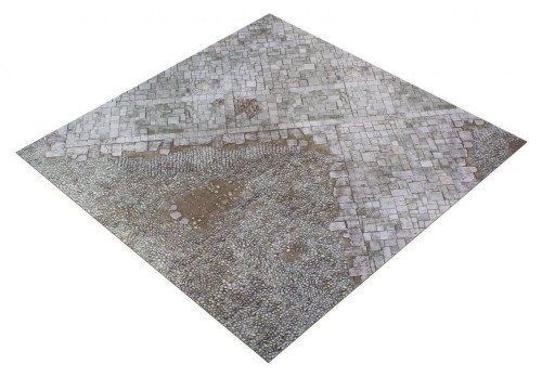 GameMat War Game Mat - 36x36inch - Medieval Town