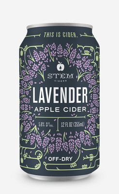 Stem Seasonal Lavender Apple Cider 4pk can
