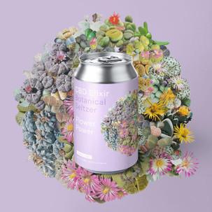 Marz Flower Power Botanical Seltzer CBD Elixir 4pk Cans