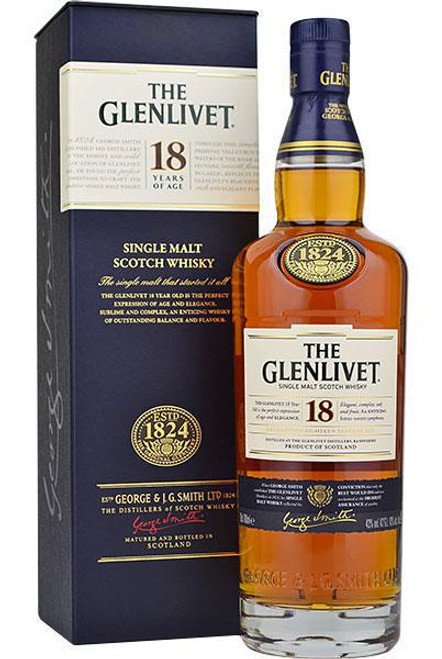 Glenlivet 18-Year Old Single Malt Scotch Whisky 750mL