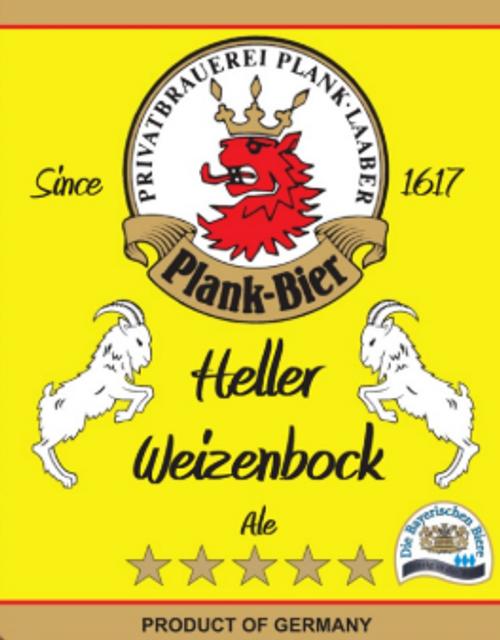 Plank Heller Weizenbock 4pk Cans
