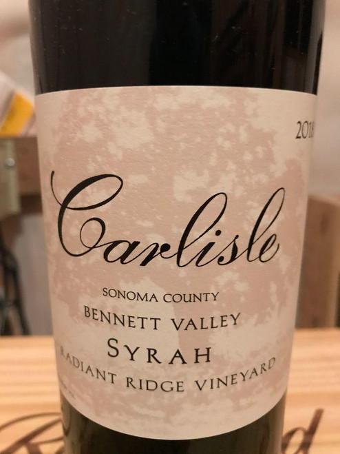 Carlisle Bennett Valley Radiant Ridge Vineyard Syrah