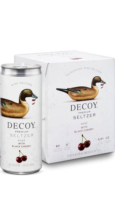 Decoy Premium Seltzer Rosè Wine with Black Cherry