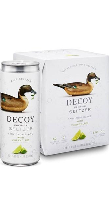 Decoy Premium Seltzer Sauvignon Blanc with Vibrant Lime