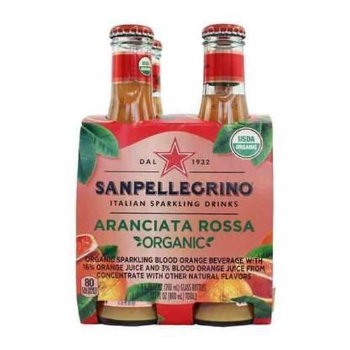 San Pellegrino Arancita Rossa Organic 4pk 200ml