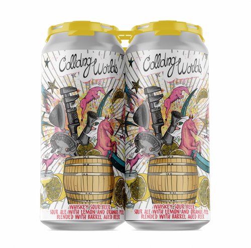 Pipeworks Colliding Worlds Whiskey Sour Ale 4pk 16oz cans