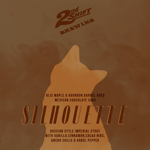2nd Shift BA Silhouette (Maple & Mexican Chocolate Cake) Imperial Stout 12oz can