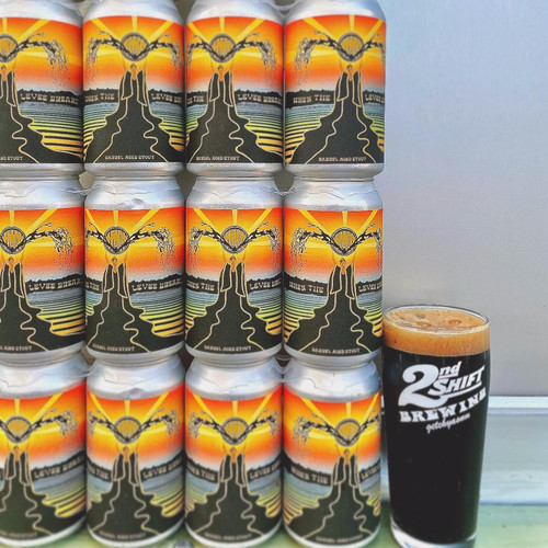 2nd Shift When The Levee Breaks BA Imperial Stout 12oz can
