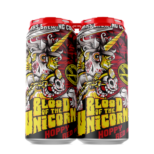 Pipeworks Blood of the Unicorn Hoppy Red Ale 4pk 16oz can