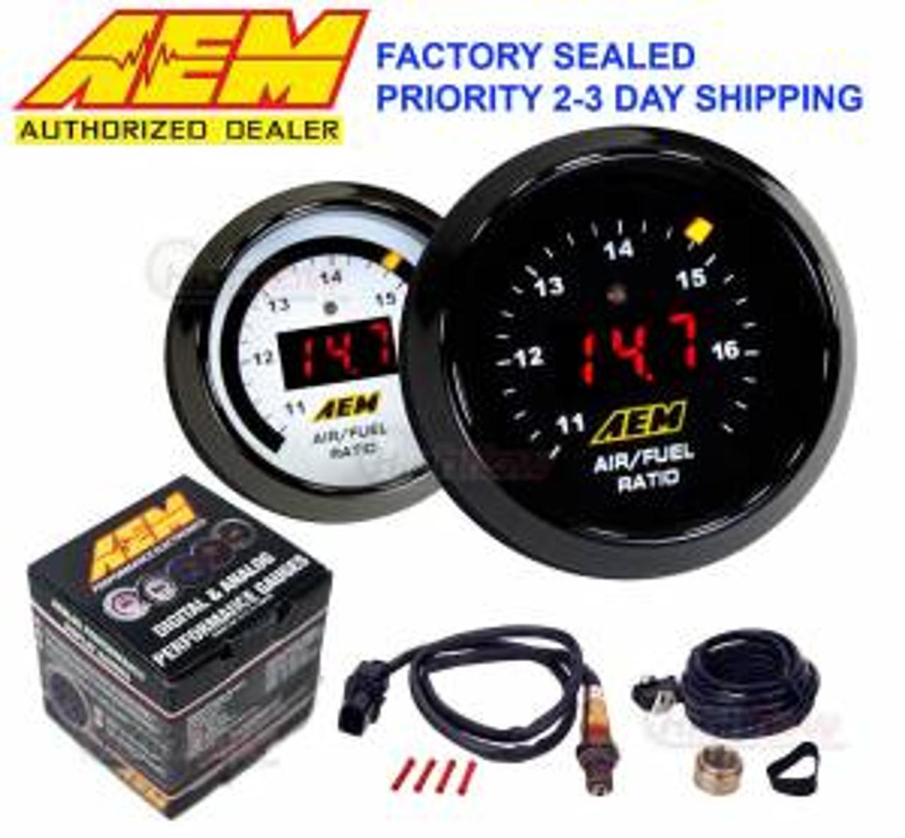 """GENUINE AEM 30-0300 X-Series Wideband Gauge AFR O2 Air Fuel Ratio 2 1//16/"""" 52MM"""