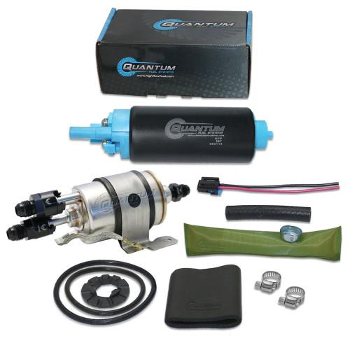 Quantum QFS TBI to LSX Swap Fuel Pump 58PSI (LM7 LR4 LQ4 LQ9 L33) w/ Fuel Pressure Regulator/Filter + -6AN Fittings, EP381 Direct Fit 82-95 GM