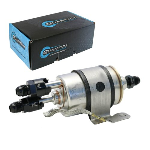 Quantum QFS LSx Swap Fuel Pressure Regulator/ Filter C5 Corvette 58psi + Straight/Curved AN or Barbed Fittings