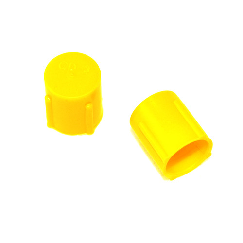 Plastic Cap Yellow, Pack of 10 (All Sizes)