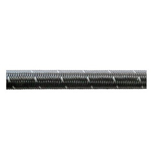 Black Nylon Double Braided Stainless E85 Hose (Per Foot) (All Sizes)