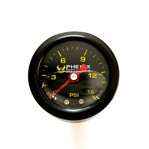 Pressure Gauge 0 to 15 Psi 1/8 NPT Silicone Filled