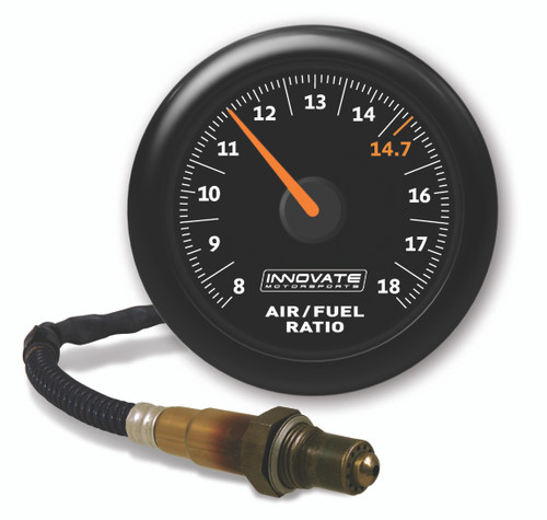 Innovate 3855 MTX-AL Analog, Air/Fuel Ratio Gauge Kit w/O2, Black Dial