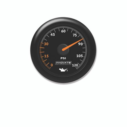 Innovate 3859 MTX Analog, Oil Pressure Gauge Kit, Black Dial