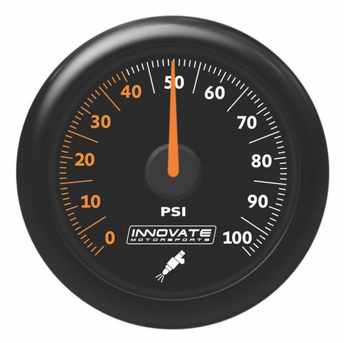 Innovate 3863 MTX Analog Fuel Pressure 0-100 PSI Gauge Kit, Black