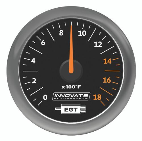 Innovate 3865 MTX Analog Exhaust Gas Temperature Gauge Kit, Black Dial