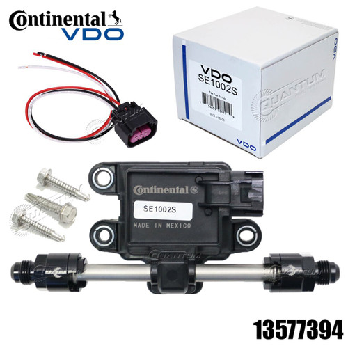 GM Continental VDO Flex Fuel Sensor E85 13577394, + AN/Barbed Fittings & Adapter Plug