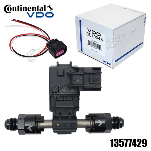 GM Continental VDO Flex Fuel Sensor E85 13577429, + AN/Barbed Fittings & Adapter Plug