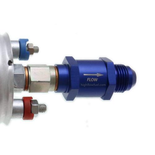 Quantum QFS Inline Check Valve -8AN M12x1.5 for Bosch 044 Fuel Pump / 61944, 0580254044
