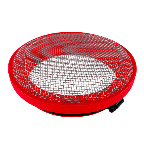 S&B Turbo Screen 5.0 Inch Red Stainless Steel Mesh W/Stainless Steel Clamp
