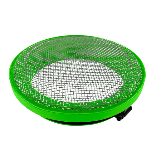 S&B Turbo Screen 4.0 Inch Lime Green Stainless Steel Mesh W/Stainless Steel Clamp