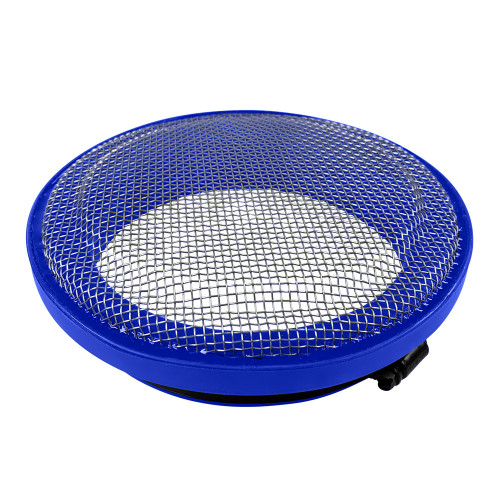 S&B Turbo Screen 6.0 Inch Blue Stainless Steel Mesh W/Stainless Steel Clamp