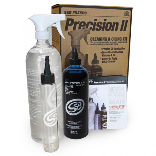 S&B Filters Precision II: Cleaning & Oil Kit (Blue Oil) (88-0009)
