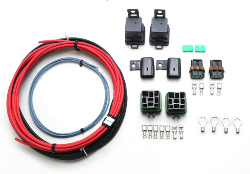 QFS Dual Fuel Pump Relay Hotwire Kit - Includes Relays, Wiring, Fuses, Terminals