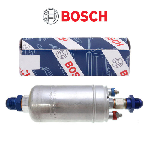 Bosch 044 320LPH+ Inline Fuel Pump w/ Choice of Fittings (058025044)