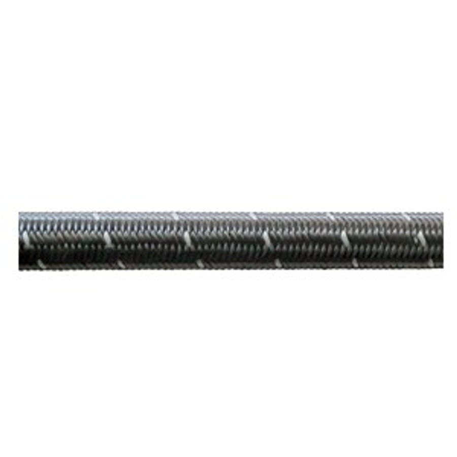 Phenix Industries Black Nylon Double Braided Stainless E85 Hose (Per Foot) (All Sizes)