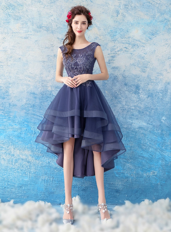 In Stock:Ship in 48 hours Hi Lo Tulle Homecoming Dress