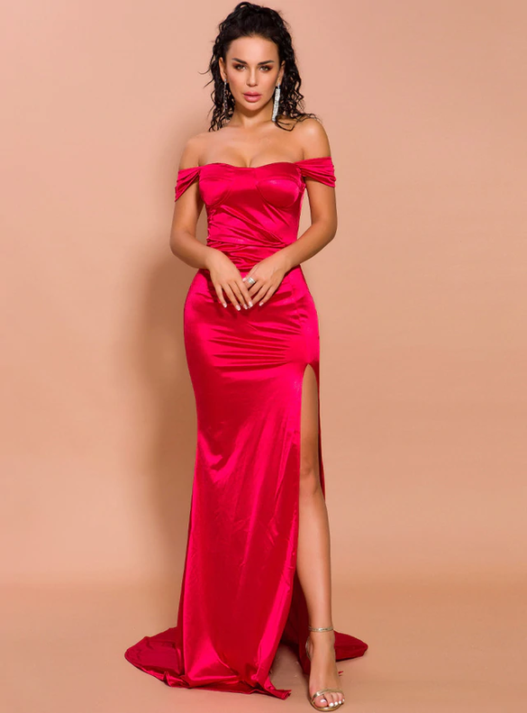 In Stock:Ship in 48 Hours Red Mermaid Party Dress