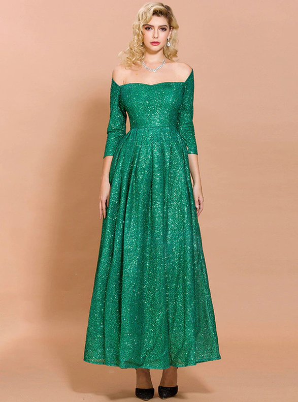 In Stock:Ship in 48 Hours Sexy Green Sequins Party Dress