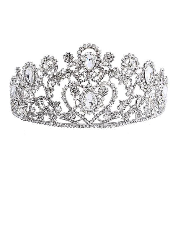 Big Wedding Bridal Clear Crystal Tiara