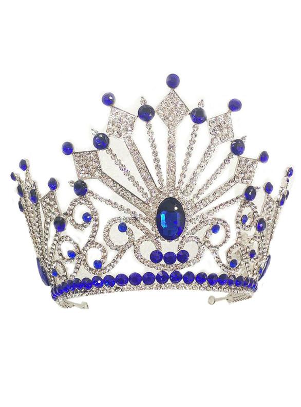 Beauty Pageant Blue Queen Princess Crown