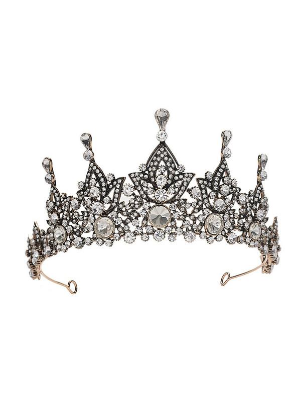 Black Baroque Antique Gold Bride Crown