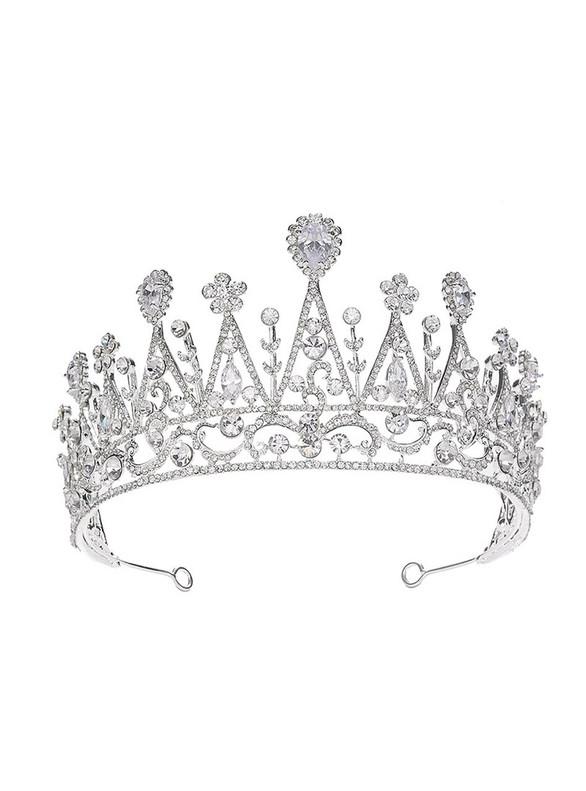 Zircon Crown Rhinestone Flower Bride Hairband