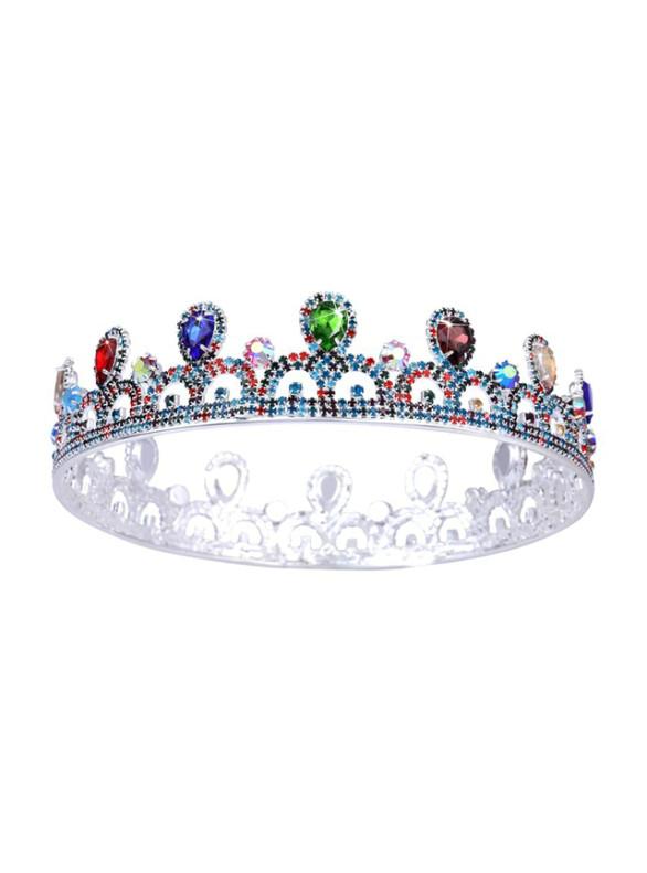 Colorful Zircon Crown Tiara Bride Round