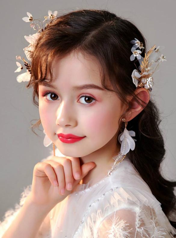 Girls Princess Flower Hair Accessories Set