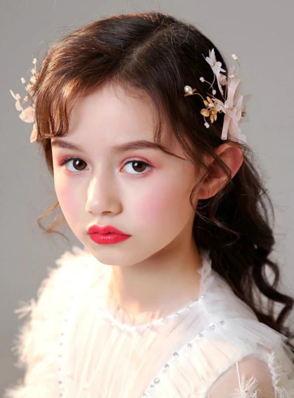 Girls Pink Butterfly Headdress Hairpin