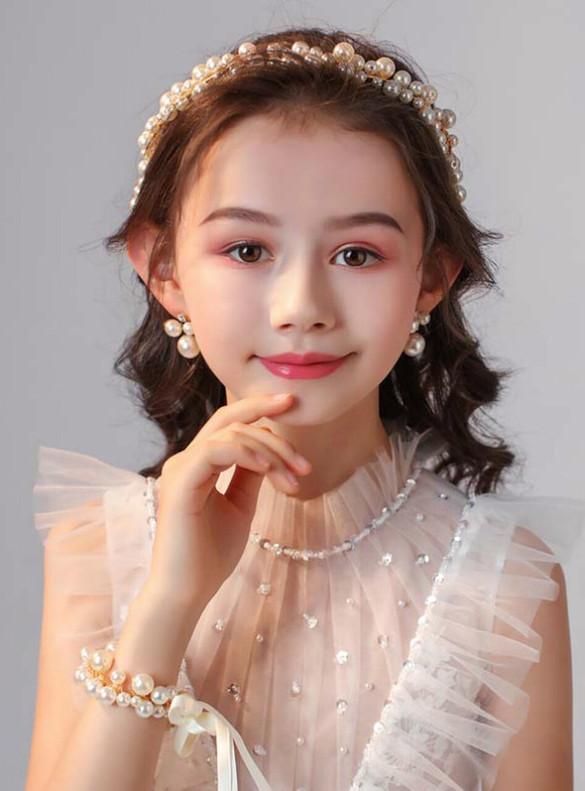 Children's Headwear Pearls Girls Accessories